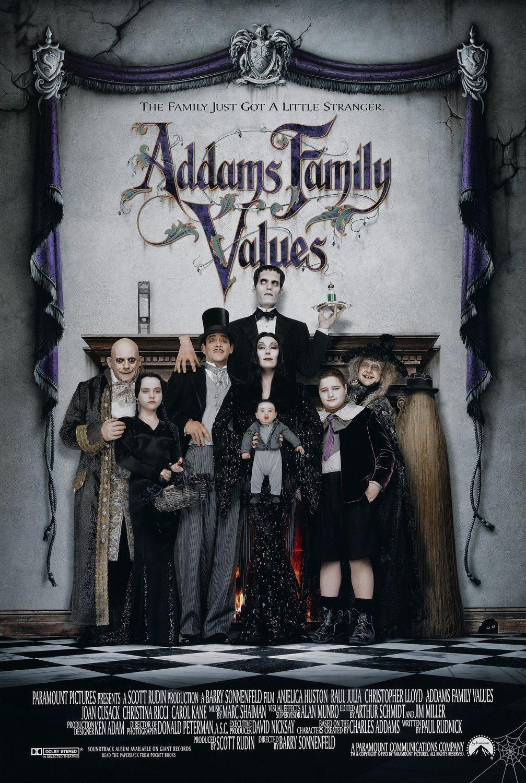 40 Movies Turning 20 Addams Family Movie Addams Family Values Addams Family
