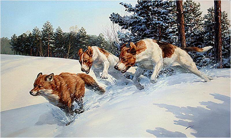 Hudozhnik Danchurova Tatyana Ivanovna In 2021 Cross Paintings Hunting Art Animal Paintings