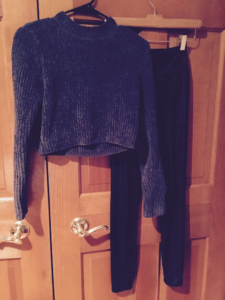 Fuzzy Ribbed Knit Sweater!