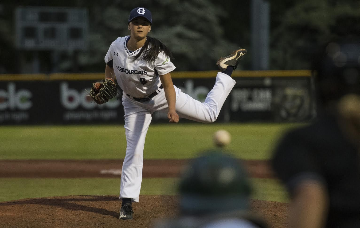 UBC Softball's Claire Eccles makes historic debut for Victoria Harbourcats