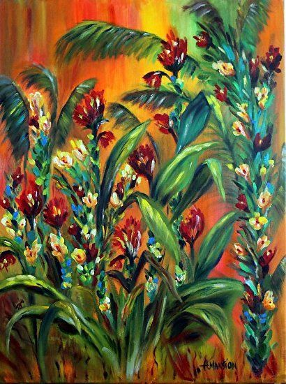 Passion Flowers by Heidi Mansion Oil ~  x