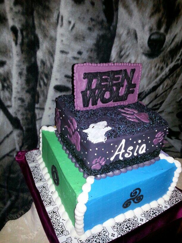 Teen Wolf Birthday Cake Cissys Sweets Pinterest Teen Wolf