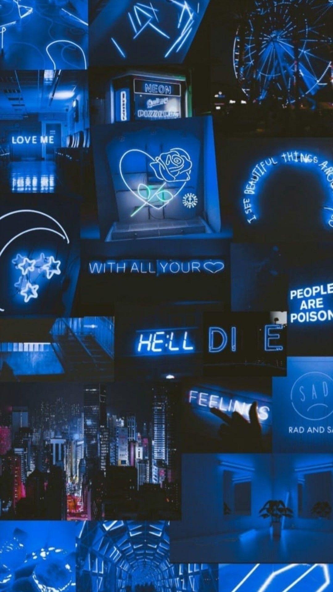 Collage Wallpaper Blueaesthetic Blue Aesthetic Vintage Blue Wallpaper Aesth In 2020 Blue Wallpaper Iphone Aesthetic Pastel Wallpaper Black Aesthetic Wallpaper
