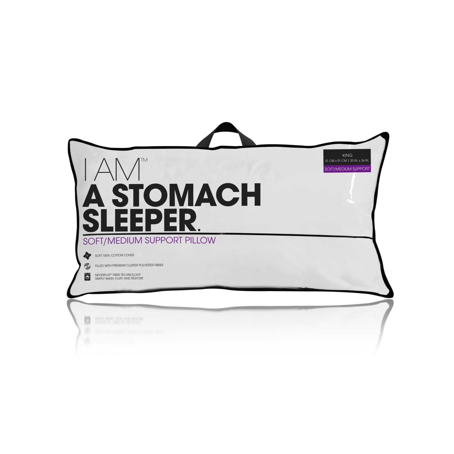 i am a stomach sleeper pillow jumbo white products