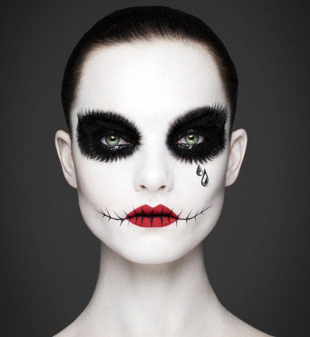 maquillage d 39 halloween pierrot le clown version horreur. Black Bedroom Furniture Sets. Home Design Ideas