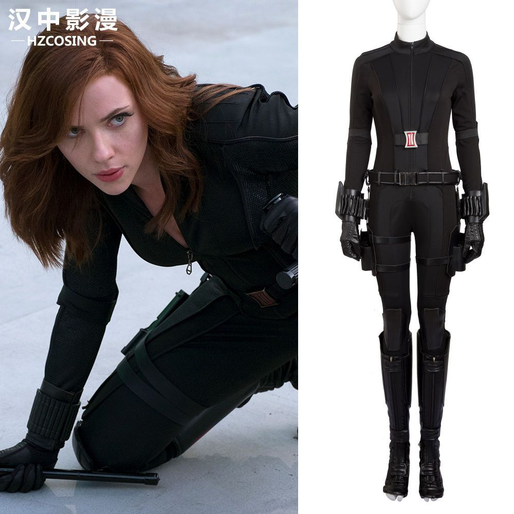 HZYM Avengers Infinity War Black Widow Natasha Romanoff Cosplay Costume Outfit