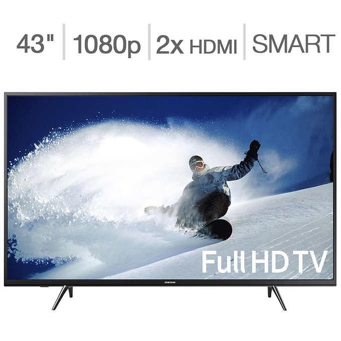 "Samsung 43"" Class (43.0"" Diag.) 1080p Smart LED LCD TV"