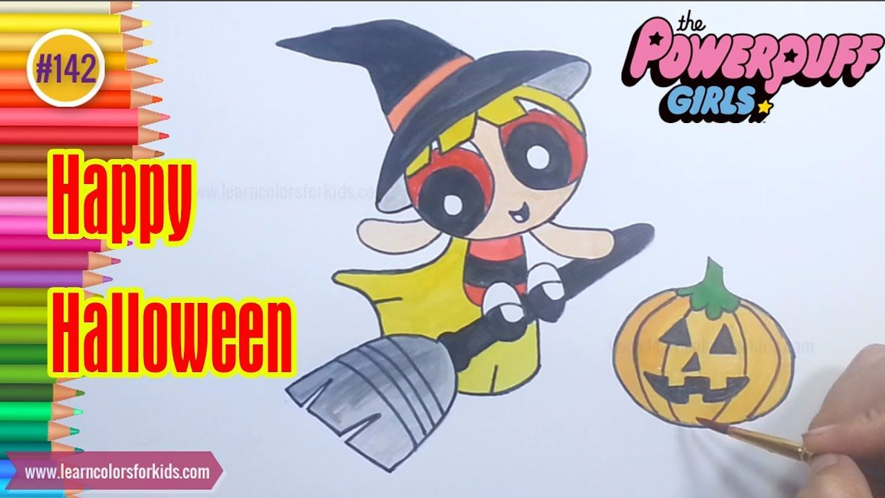 Powerpuff Girls Coloring Book | Powerpuff Girls in Halloween | Happy ...