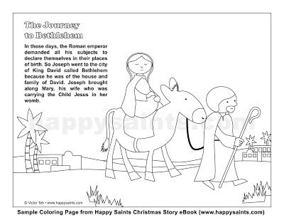 Journey To Bethlehem Coloring Page Journey To Bethlehem A