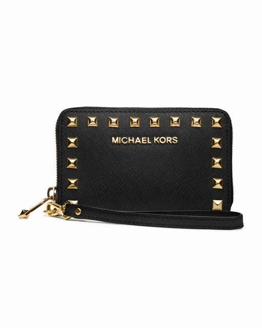 2c02b75c3abd9 Michael Kors Selma Iphone ® 5 4s 4 Und Multifunktions-Tasche Schwarz  Saffiano Online-