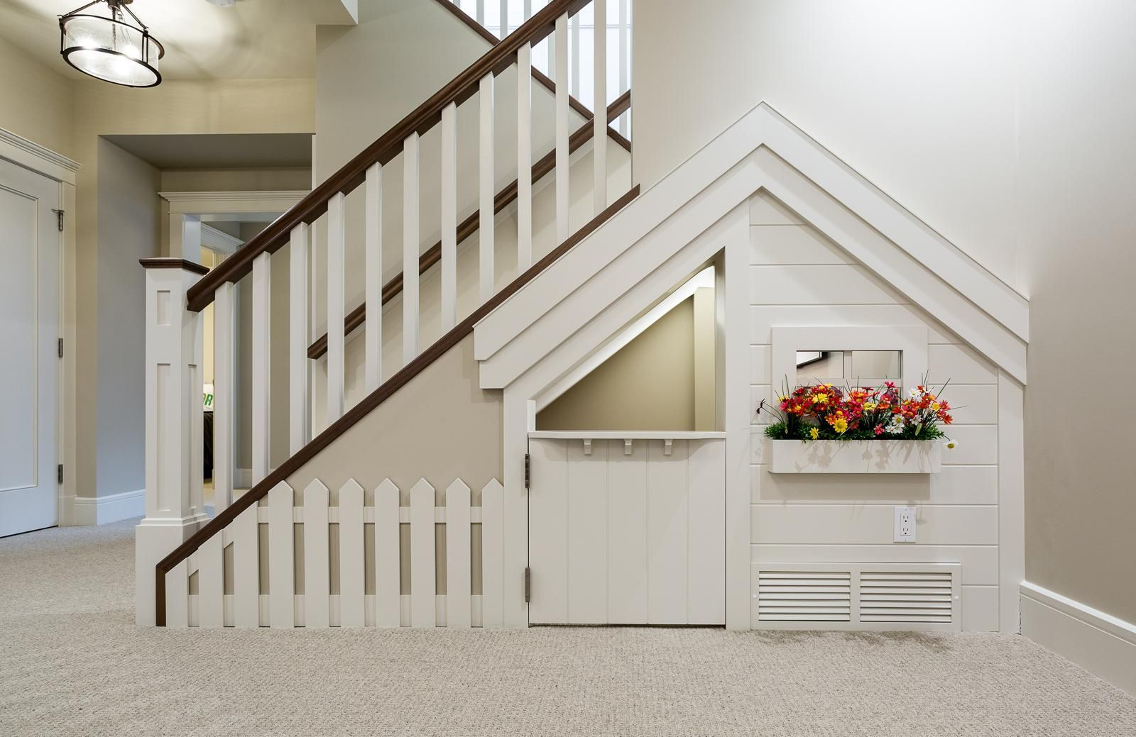12 Creative Ways To Use The Space Under Your Stairs Play Houses Home Decor Online Under Stairs Playroom