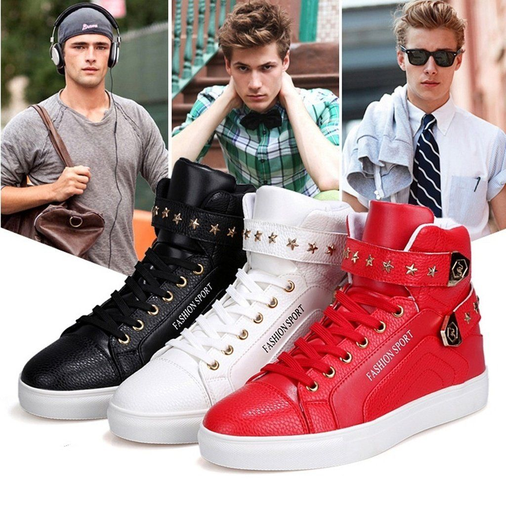 121177709c15 High Tops Quality For Men Casual Leather Boots Lace Up 3Color USA Street  Style Men Fashion Shoes