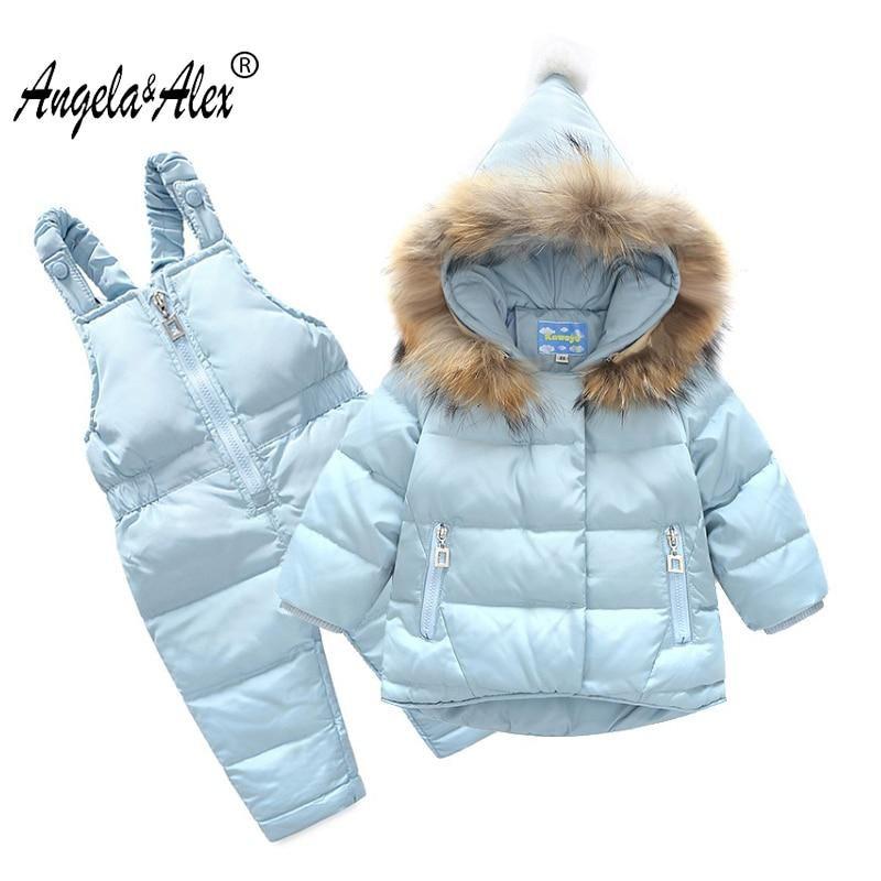 f7d8f1cb1b08 Angela Alex Baby Girl Winter Jacket White Duck Down Children Warm ...