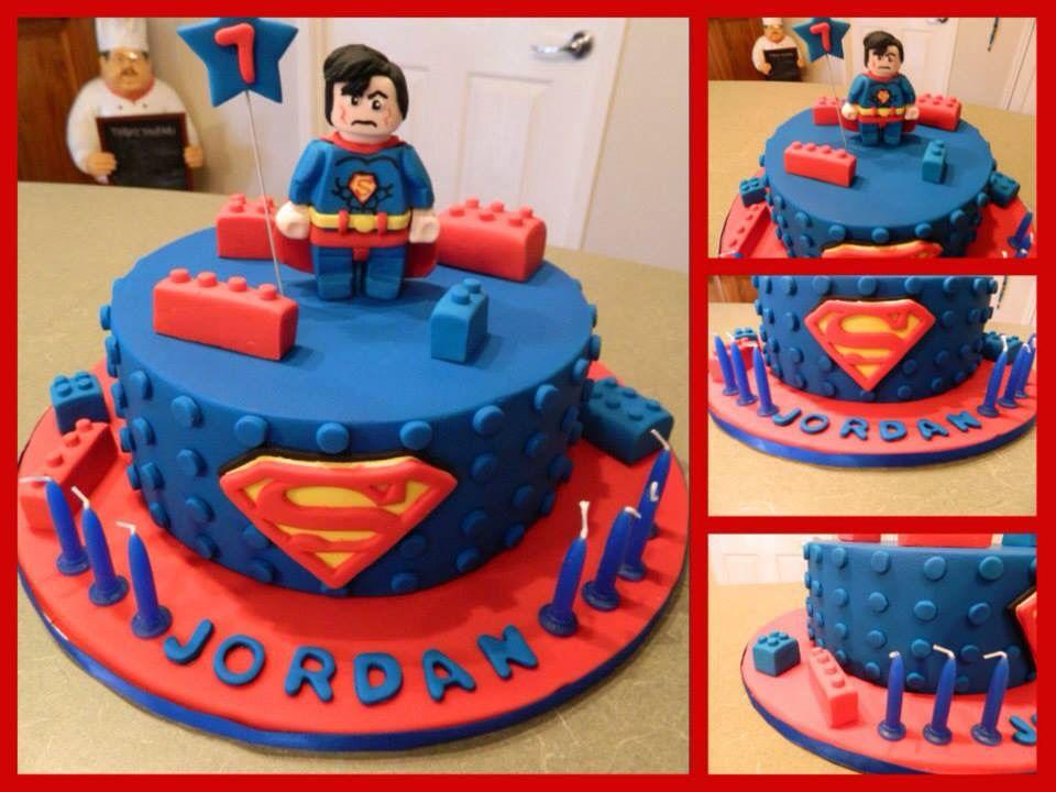 Lego Superman Cake Jason S Birthday Cake Pinterest Superman