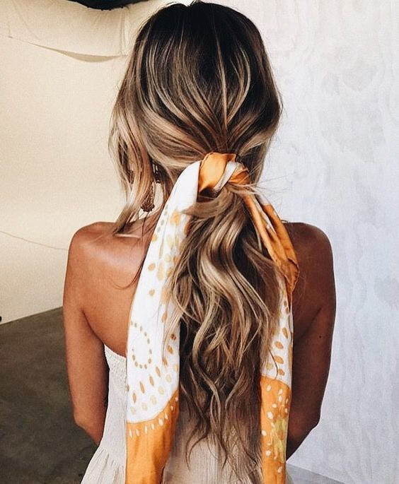 Low Pony Hair Scarf