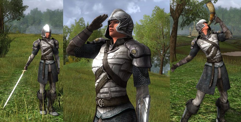 """My LOTRO Fashion Week submissions""  Definitely good ones here. The helmet isn't as bad as the others, either, which is nice."
