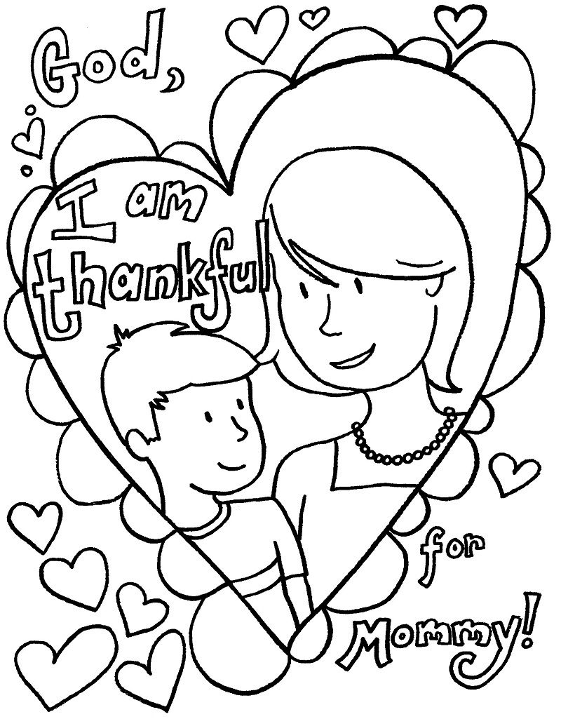 Mothers day coloring online - Mothers Day Coloring Pages For Children Kids Toddlers Happy Mothers