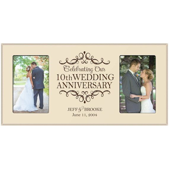 10th Wedding Anniversary Photo Frame By Dayspringmilestones 10th Wedding Anniversary Wedding Anniversary Pictures 1st Anniversary Gifts