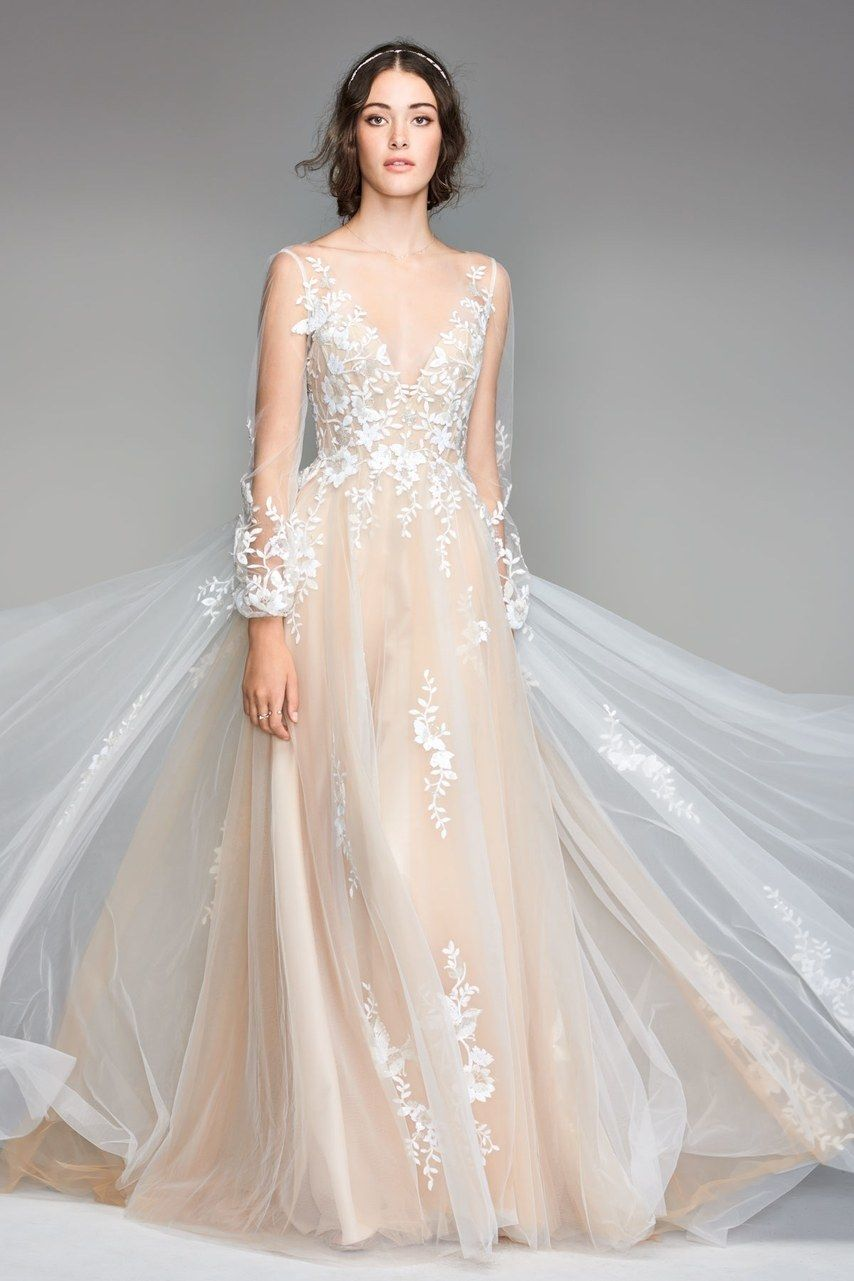 champagne wedding dresses for the bride who wants subtle color