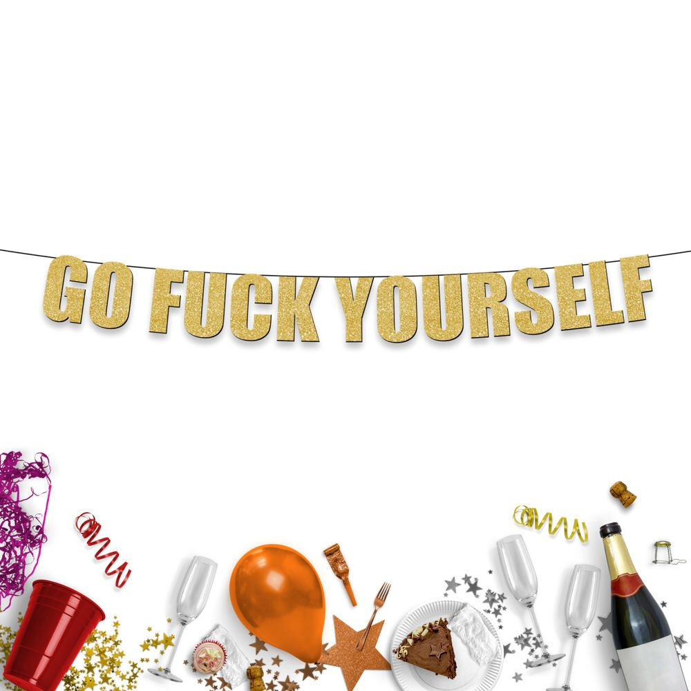 Go fuck yourself funnyrude party banner for divorce leaving anti go fuck yourself funnyrude party banner for divorce leaving anti solutioingenieria Choice Image