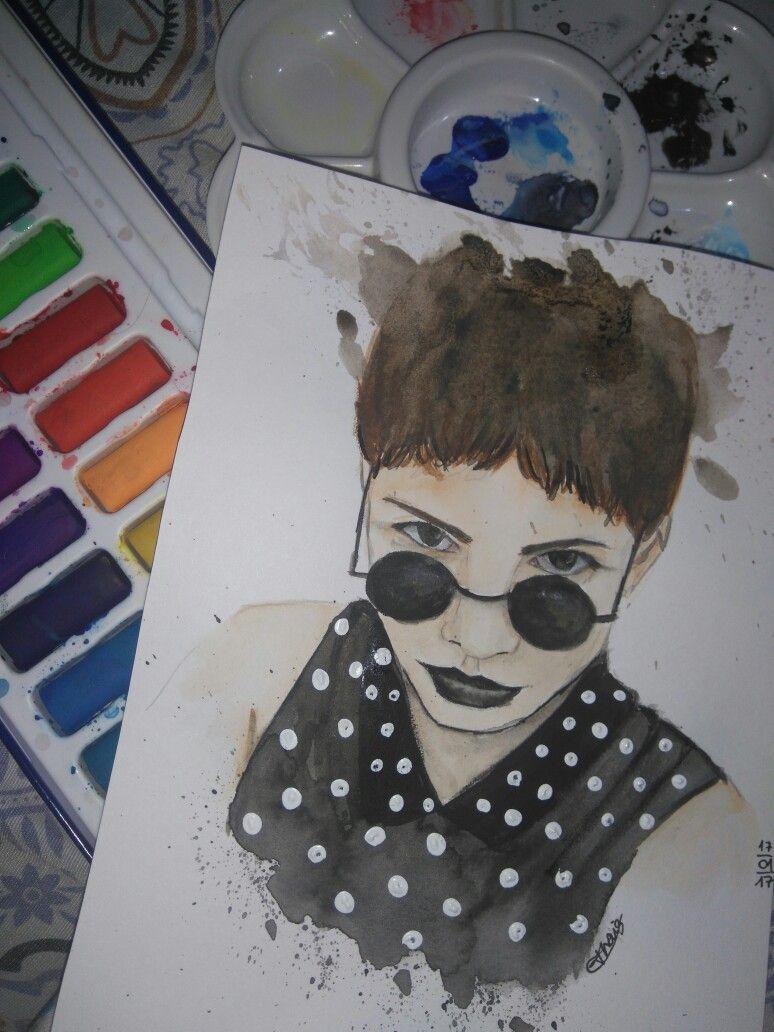 #Girl #watercolor #sketch