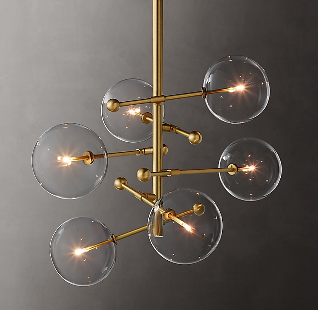 Glass Globe Mobile Chandelier Collection | RH