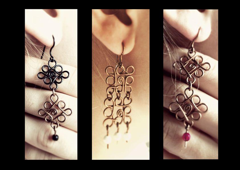 Handmade wire earrings  Alexandra Mastroeni
