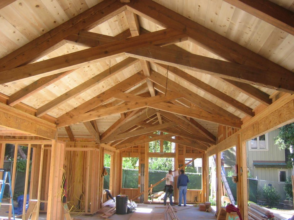 Timber Trusses Pacfic Post Beam Timber Frame Garage Timber Framing Timber Frame Construction