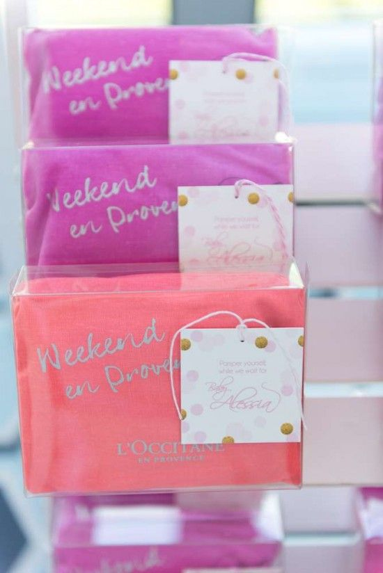 Elegant Pastel French Patisserie Baby Shower Guest Gifts