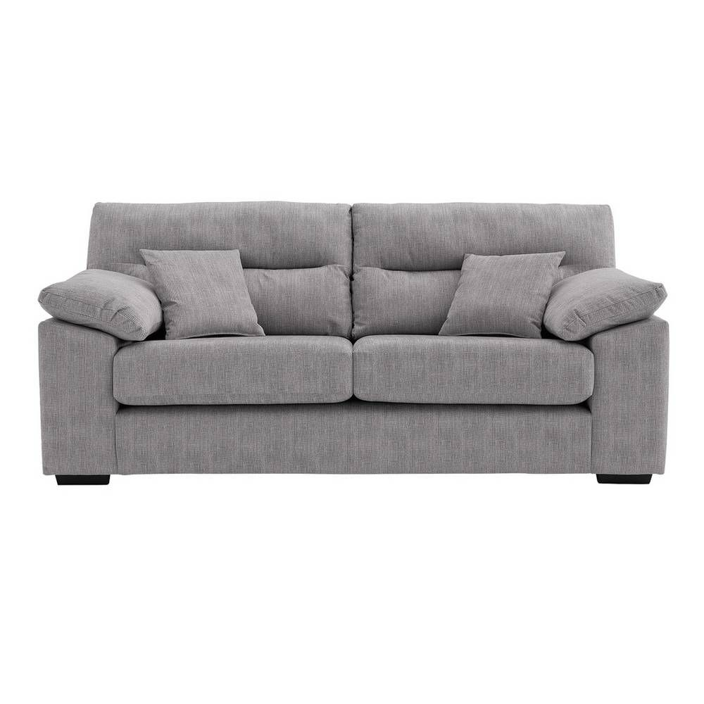 Miraculous Buy Argos Home Donavan 3 Seater Fabric Sofa Silver Sofas Download Free Architecture Designs Terstmadebymaigaardcom