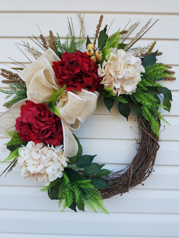 Photo of Year Round Wreath For Front Door, All Season Wreath, Rustic Door Decor, Fall Wreath