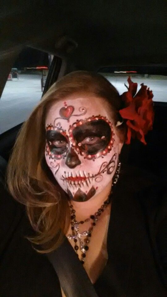 My makeup for Day of the Dead Halloween 2014