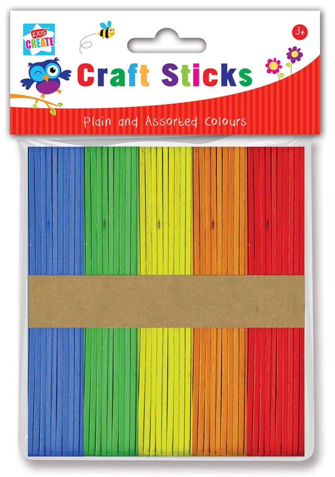 PACK OF APPROX 100 WOODEN LOLLYPOP LOLLY POP CRAFT STICKS COLOUR AND PLAIN MIXED