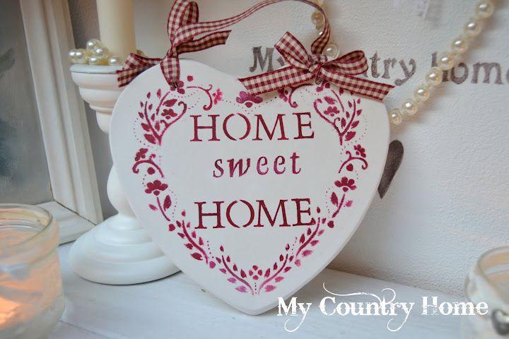 Home made plaster heart, lavoretto, progetto fai da te, diy, stile ...