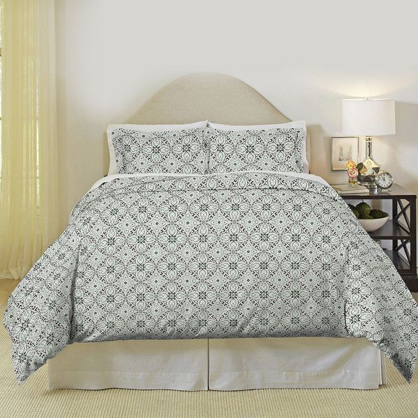 pointehaven ankara flannel duvet cover set u20ac46 liked on polyvore featuring home