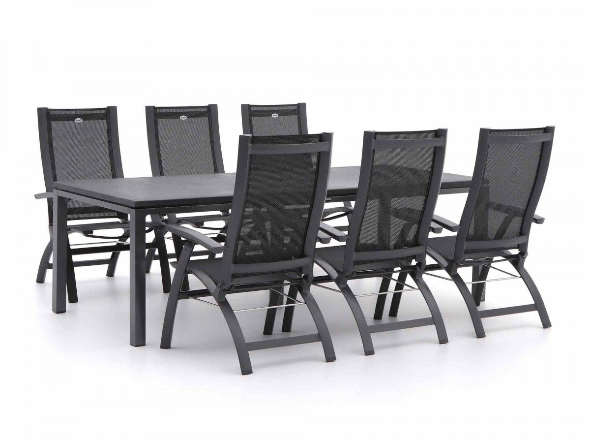 Aluminium tuinset aanbieding central park tuin fauteuil folder