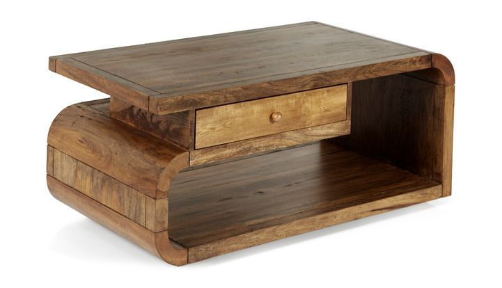 Marvelous Mango Lounge Coffee Table With Drawer