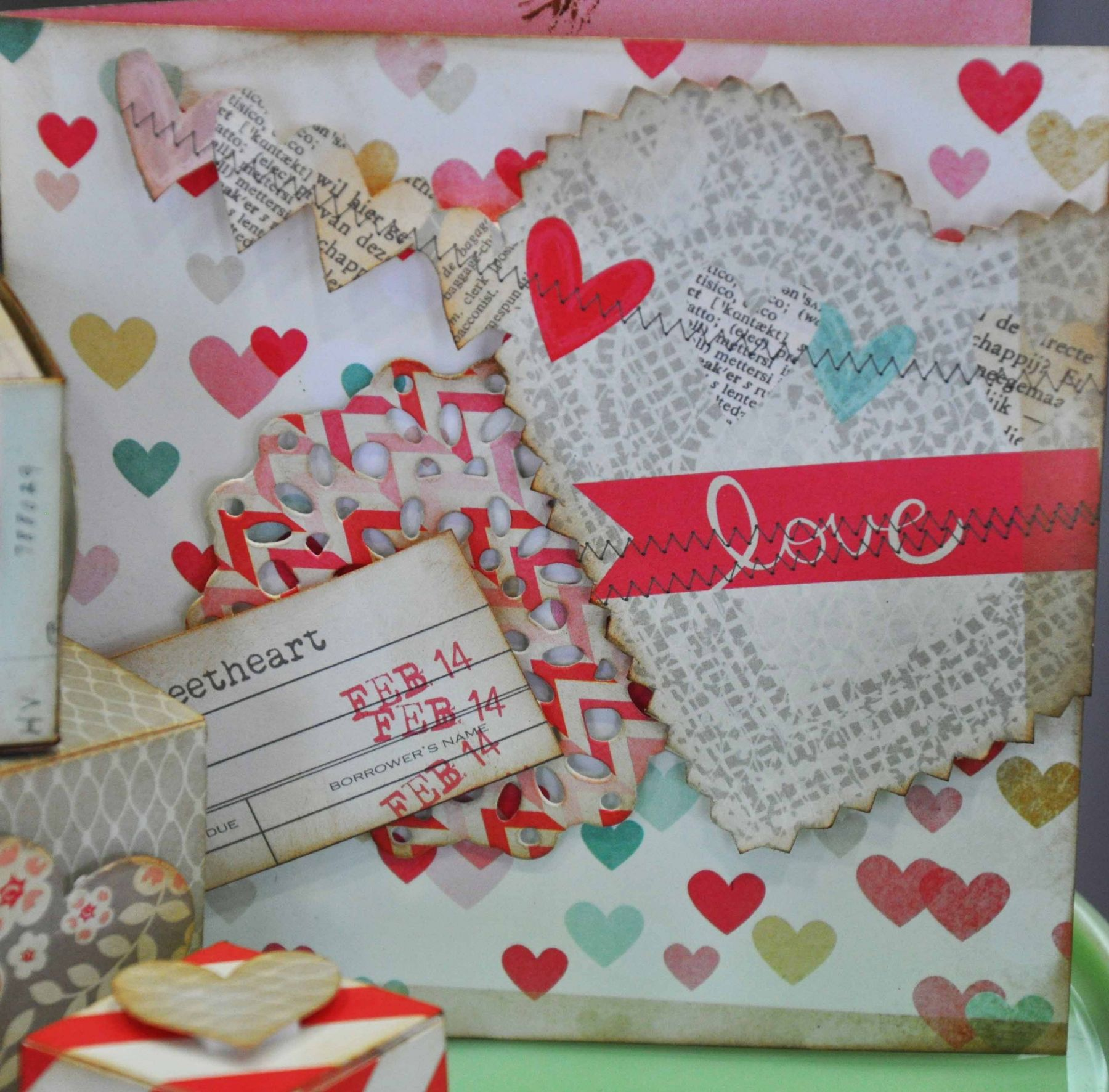 Love is in the air…. Card with Crate paper
