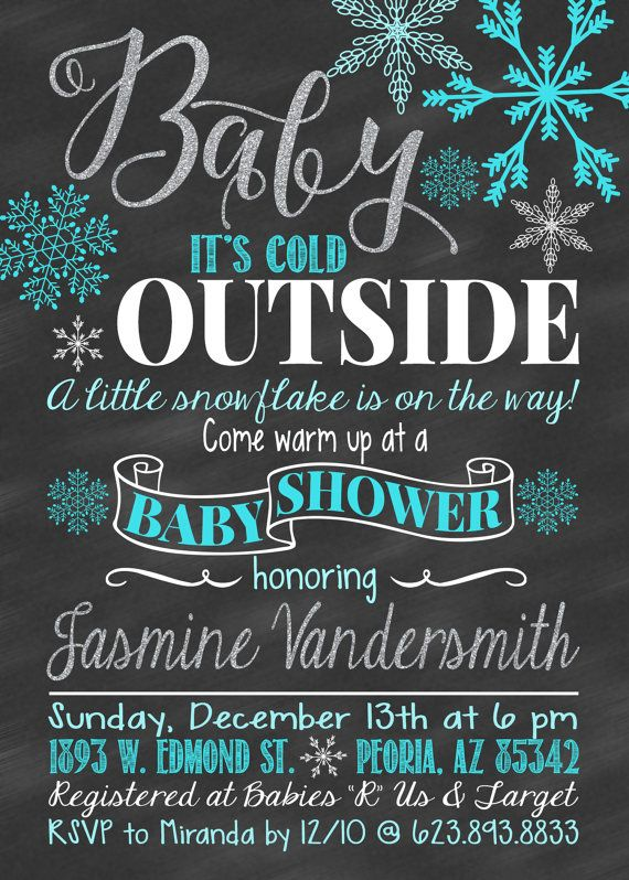 Baby Shower Invitation Winter Baby Baby Its Boy by CLaceyDesign