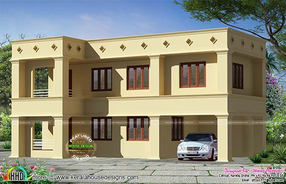 Arabic Style Flat Roof Home Decoracao Paisagismo