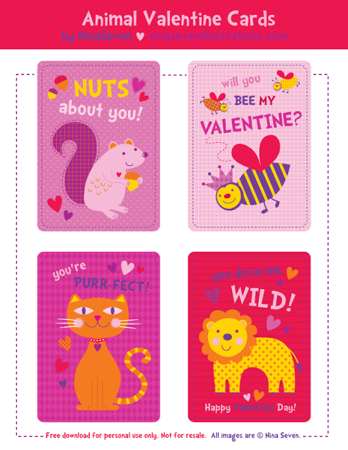 we love to illustrate free printables valentines