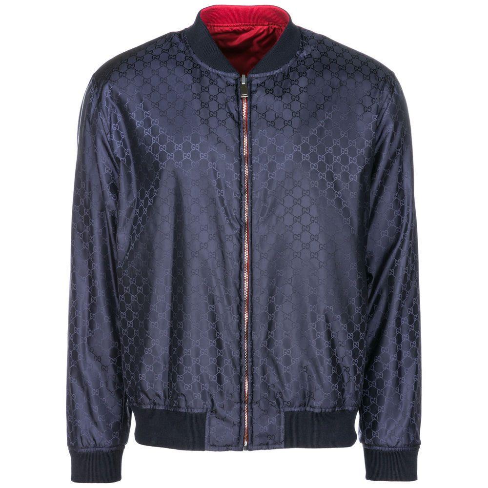Ebay Sponsored Gucci Men S Outerwear Jacket Blouson New Double Face Blue 6d3 Mens Outerwear Jacket Outerwear Jackets Mens Outerwear [ 1000 x 1000 Pixel ]