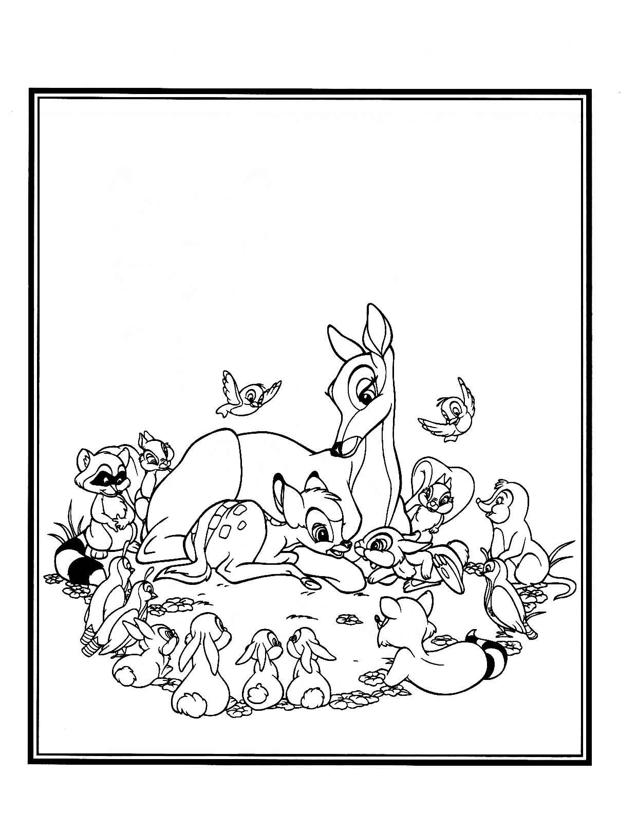 bambi coloring pages - Bing Images | Coloring-Disney 2 | Pinterest