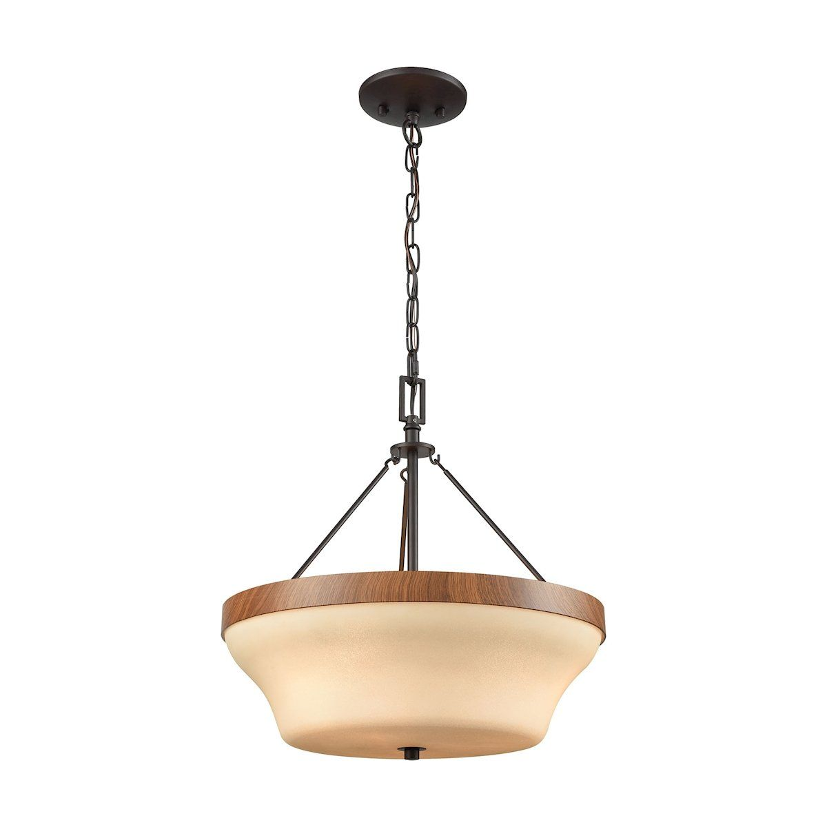 Park city light pendantsemi flush dual mount in oil rubbed bronze