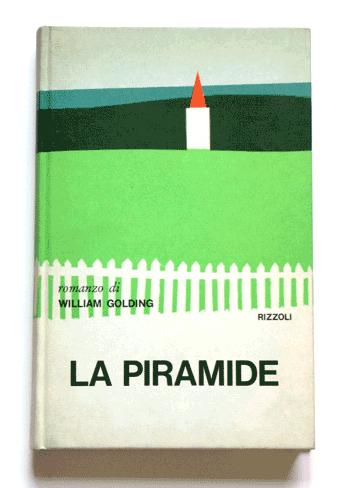 Grafico della Copertina - A collection of book covers by Italian designer Mario Degrada. LA PIRAMIDE
