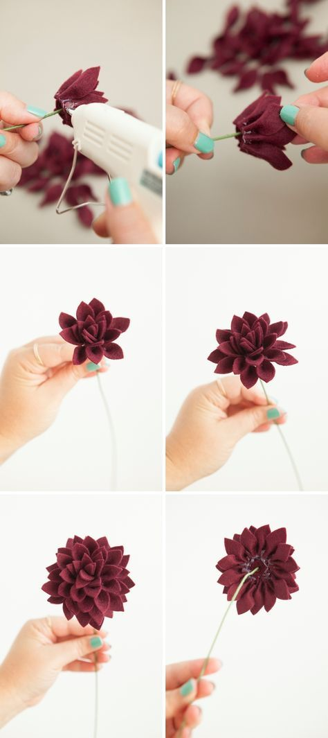 Learn How To Make Felt Dahlia Flowers! | Nähideen