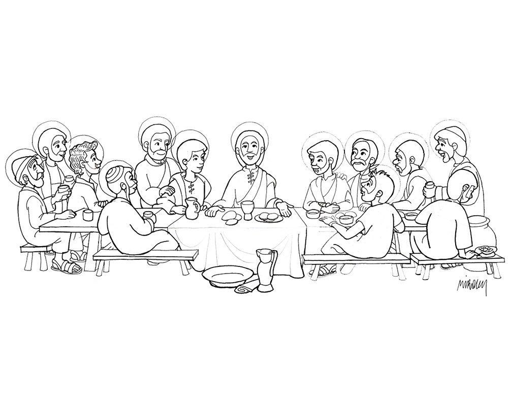 Imagenes De La Ultima Cena Para Dibujar