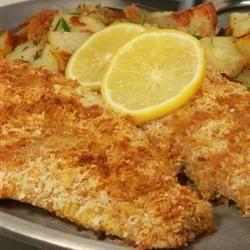 Crispy Baked Walleye Recipe Walleye Recipes Baked Walleye Fish Recipes Baked