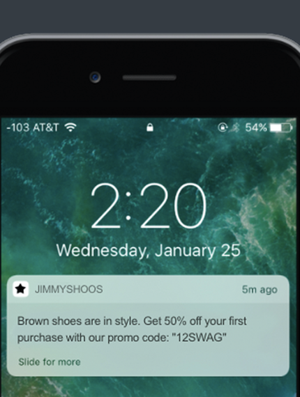 Hot New Product On Product Hunt Push Notification Preview Push Notifications Push Hunt