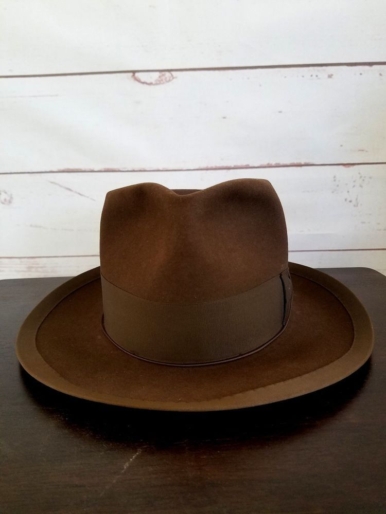 6f1711fd Stetson Whippet Style Sovereign Fur Felt Fedora Mink Color (brown) Size XS  6 5/8 #Stetson #Fedora